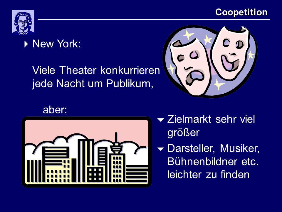 New York: Viele Theater konkurrieren jede Nacht um Publikum, aber: