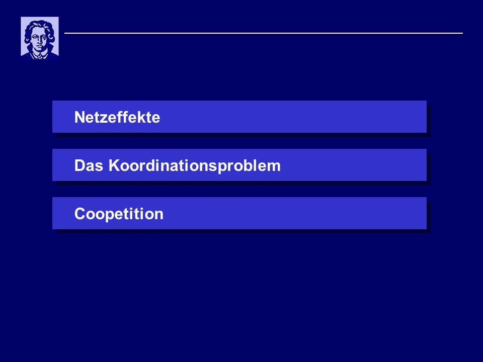 Netzeffekte Das Koordinationsproblem Coopetition