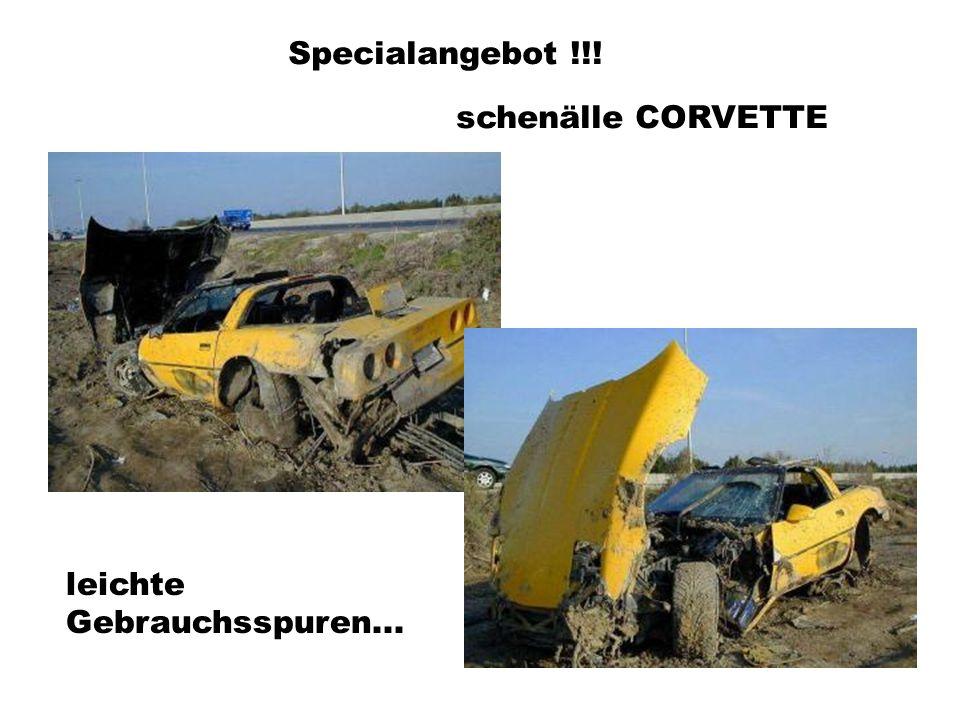 Specialangebot !!! schenälle CORVETTE leichte Gebrauchsspuren...