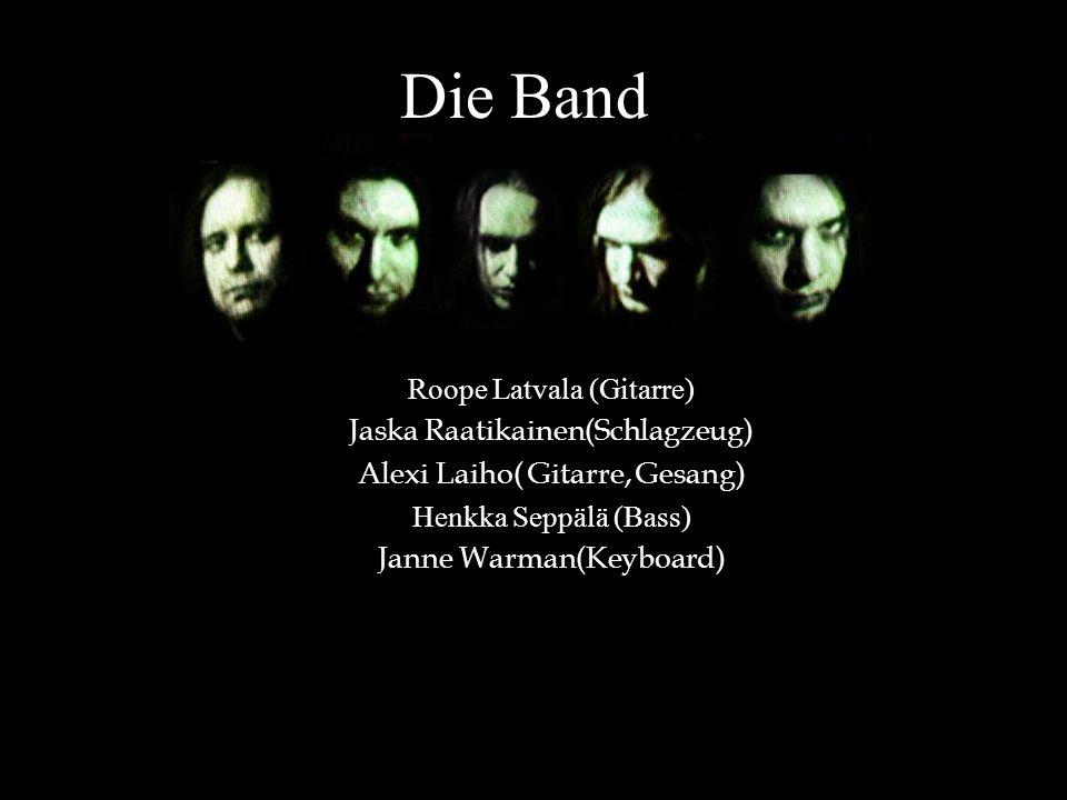 Die Band Roope Latvala (Gitarre) Jaska Raatikainen(Schlagzeug)