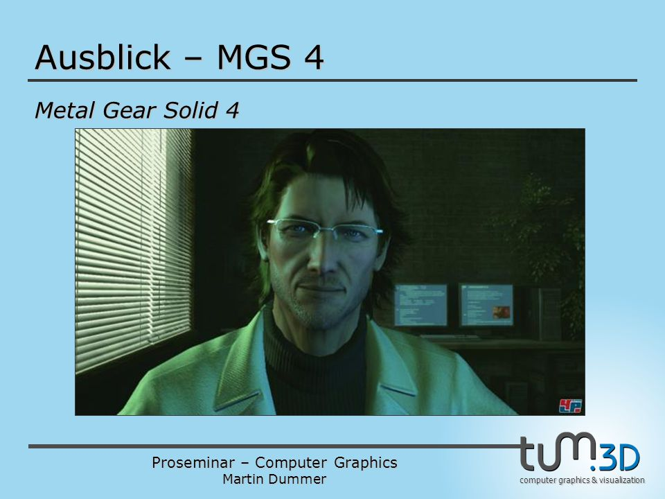 Ausblick – MGS 4 Metal Gear Solid 4
