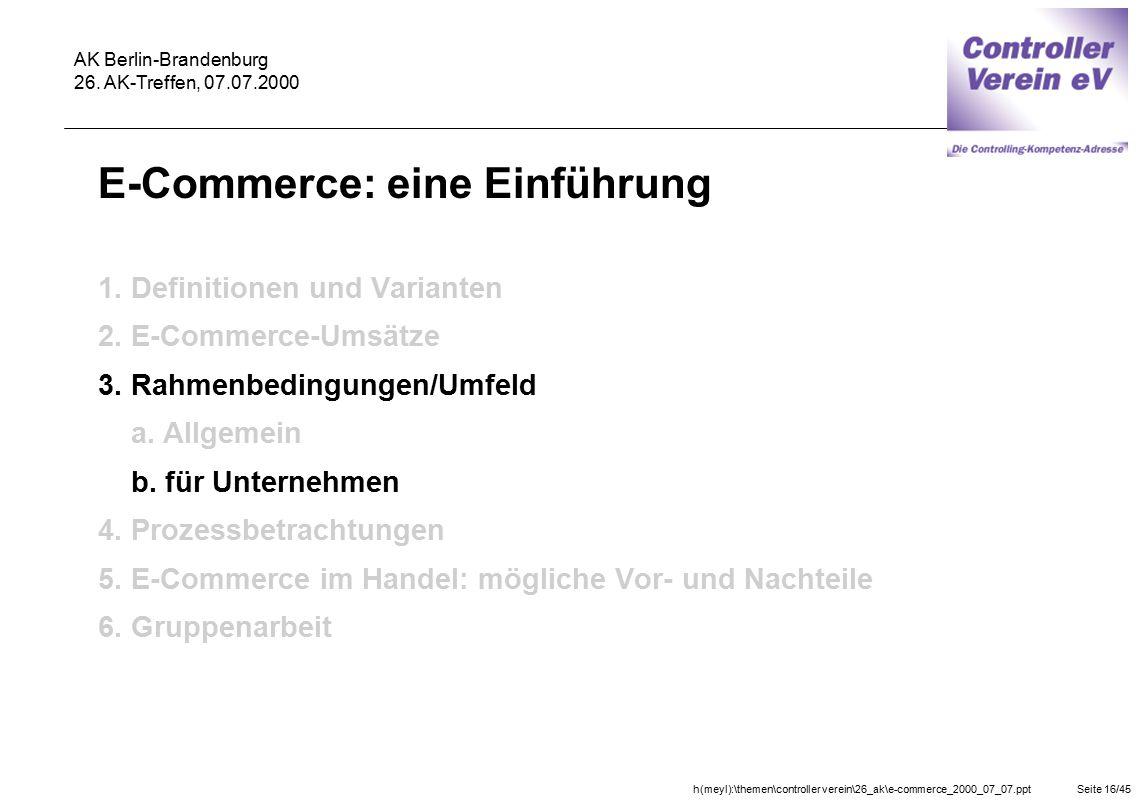 E-Commerce: eine Einführung