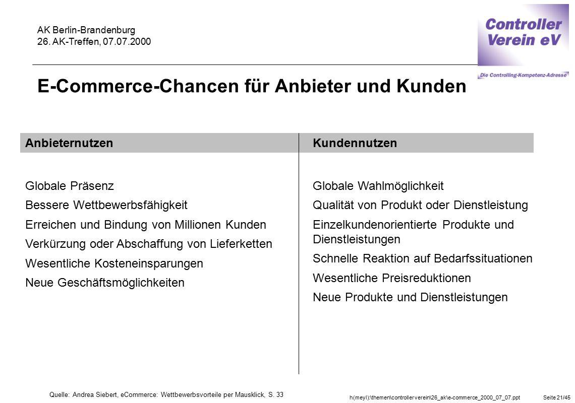 E-Commerce-Chancen für Anbieter und Kunden