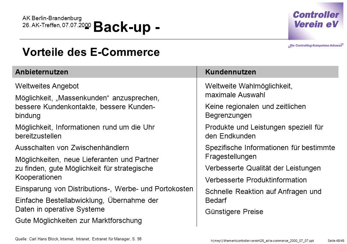 Vorteile des E-Commerce