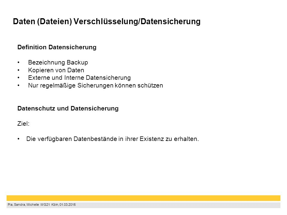 Daten (Dateien) Verschlüsselung