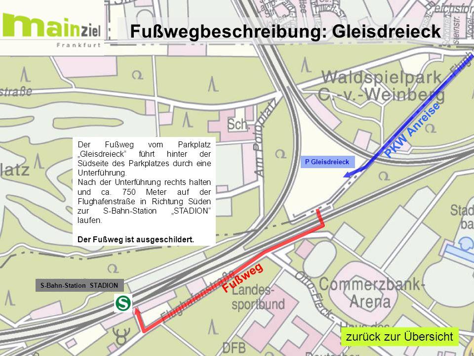 Fußwegbeschreibung: Gleisdreieck