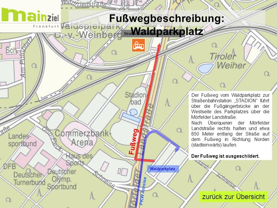 Fußwegbeschreibung: Waldparkplatz