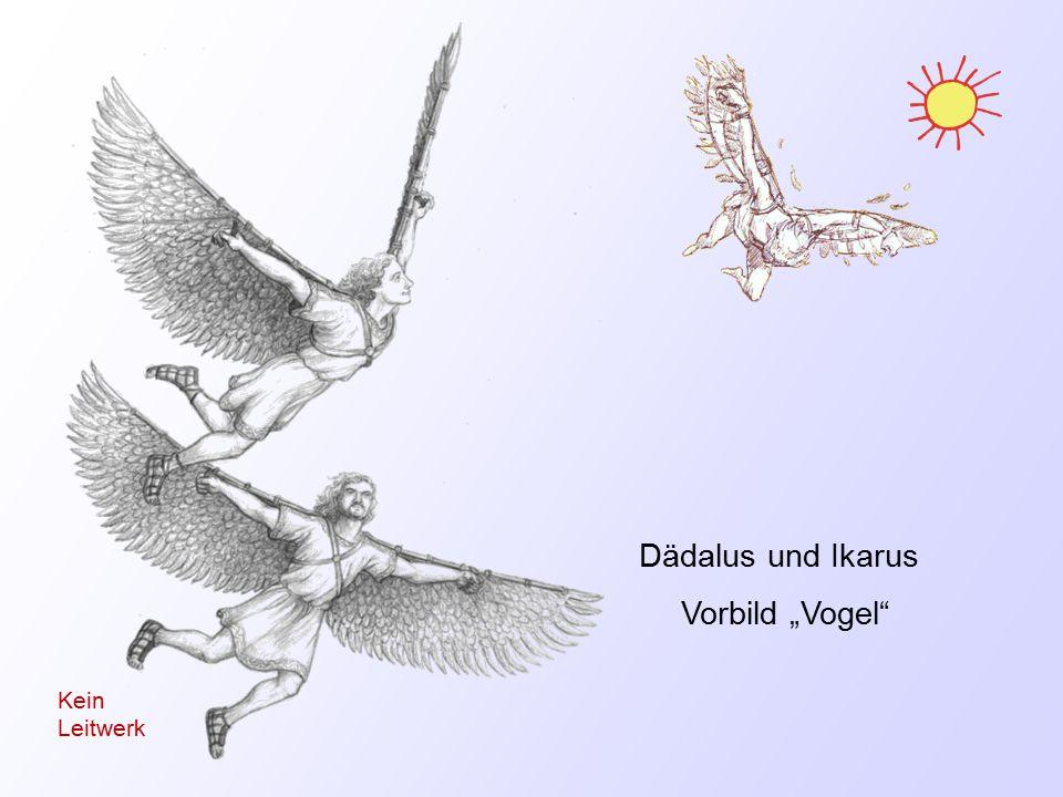 """Dädalus und Ikarus Vorbild """"Vogel Kein Leitwerk"""