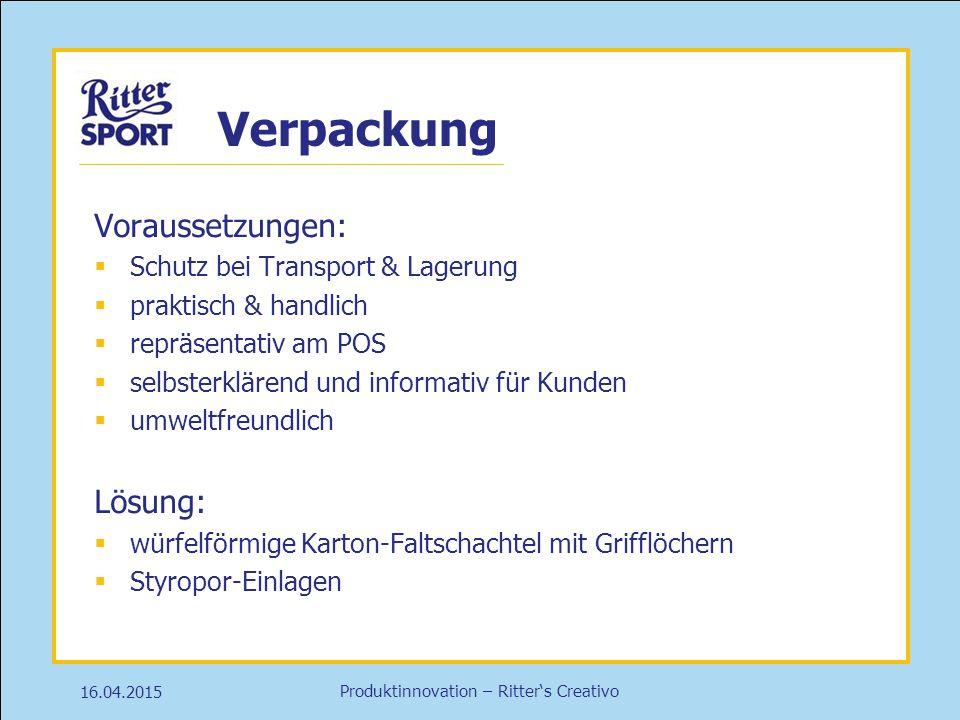 Verpackung Voraussetzungen: Lösung: Schutz bei Transport & Lagerung