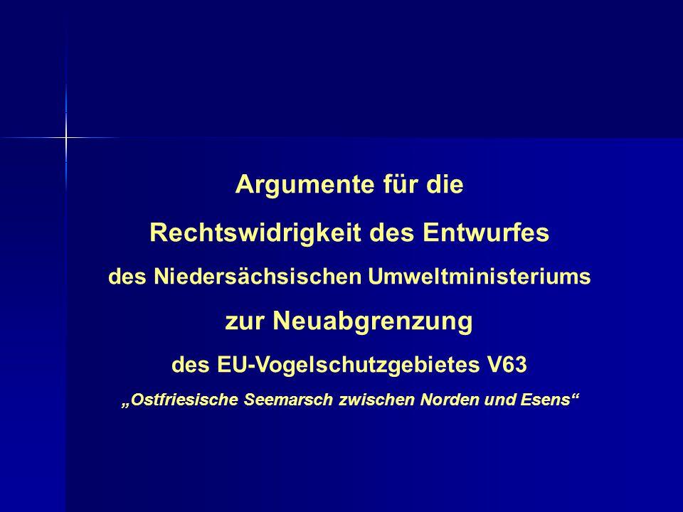 Argumente für die Rechtswidrigkeit des Entwurfes zur Neuabgrenzung