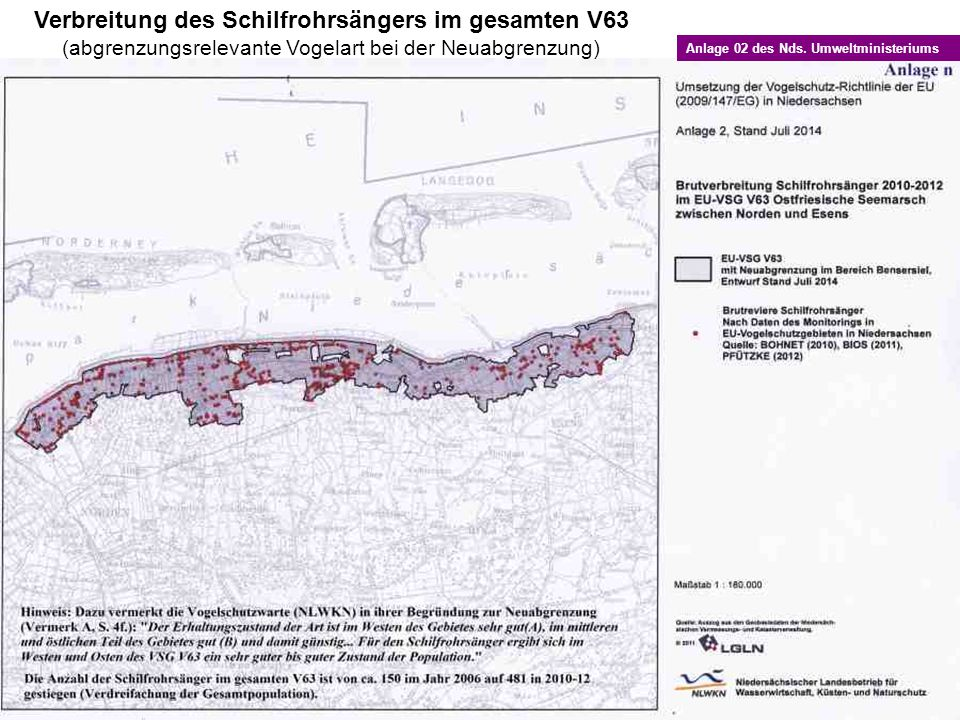 Verbreitung des Schilfrohrsängers im gesamten V63