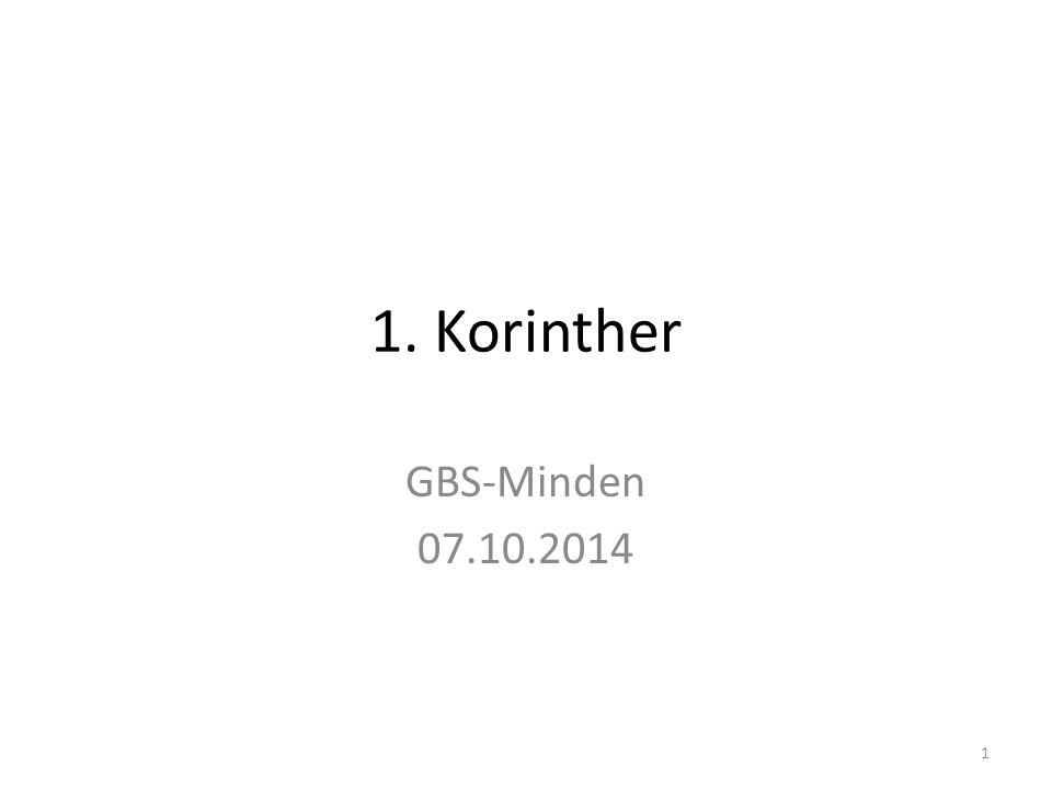 1. Korinther GBS-Minden 07.10.2014