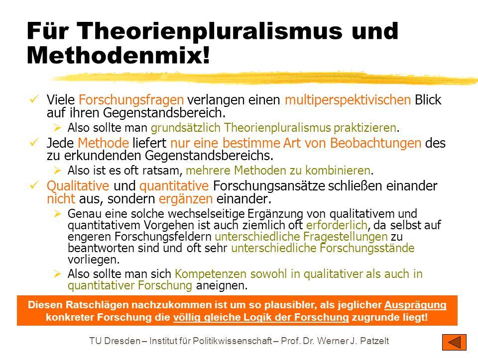 Für Theorienpluralismus und Methodenmix!