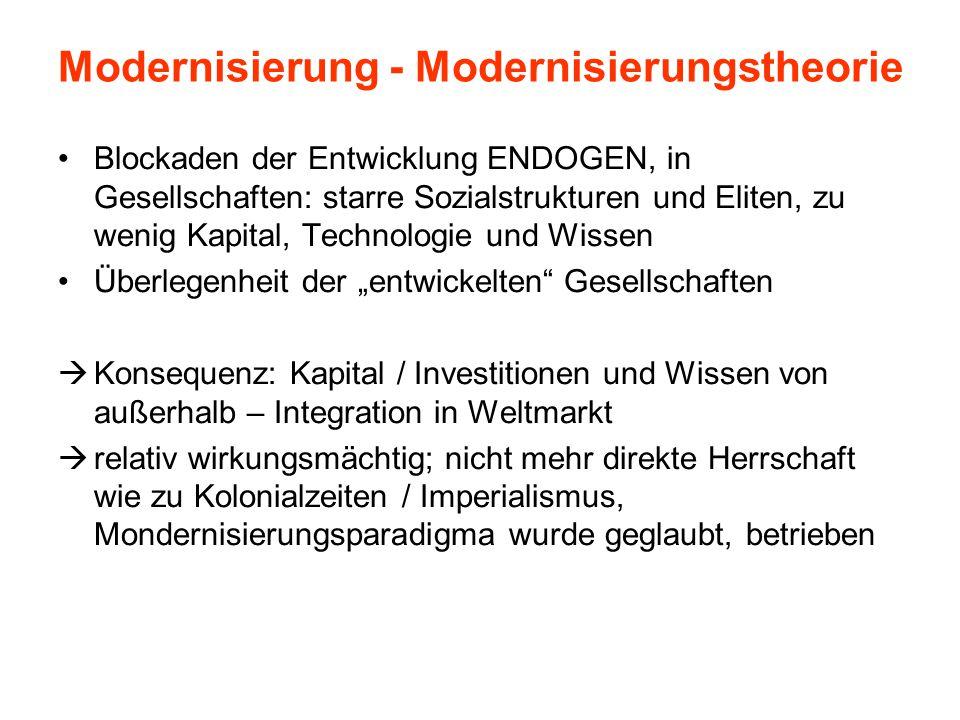 Modernisierung - Modernisierungstheorie
