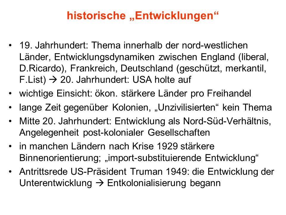 """historische """"Entwicklungen"""