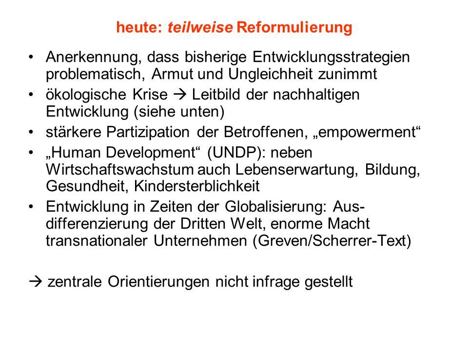 heute: teilweise Reformulierung