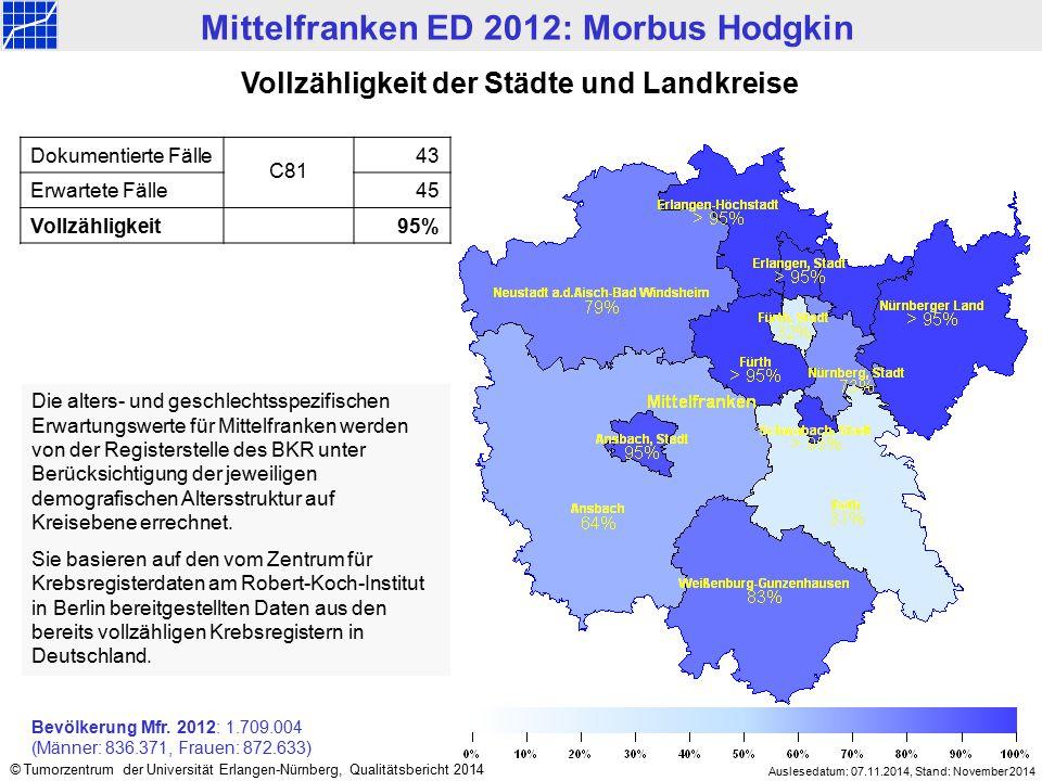 Mittelfranken ED 2012: Morbus Hodgkin