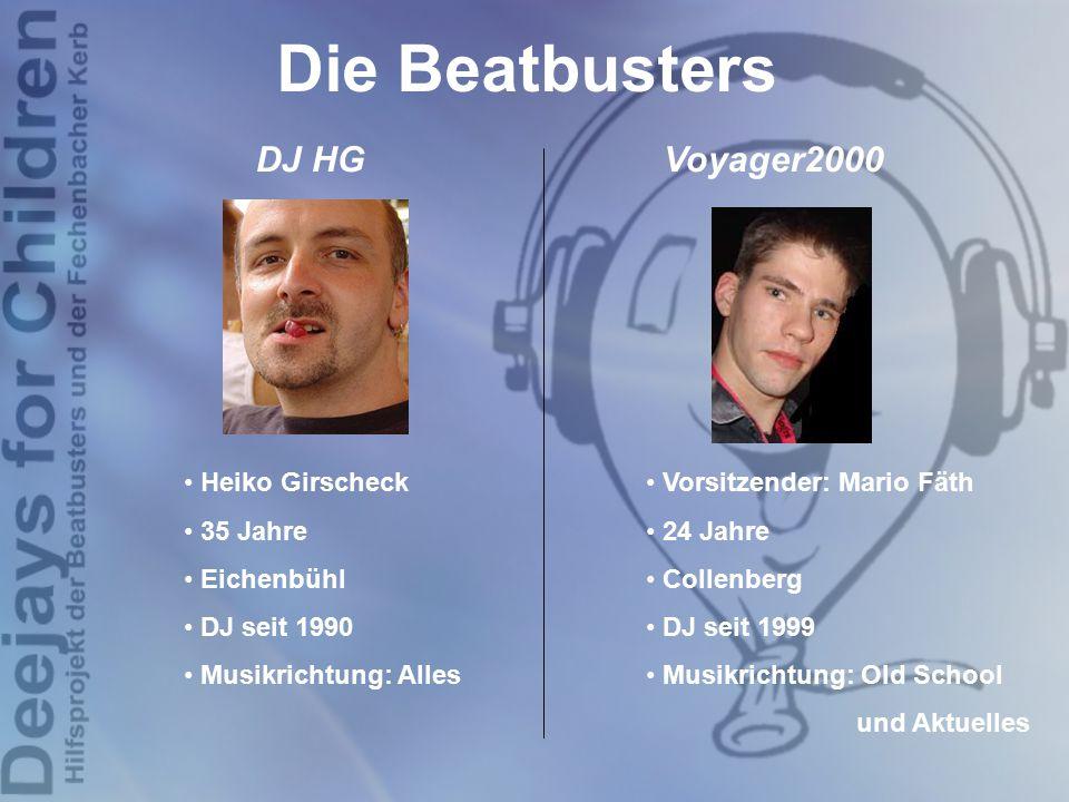 Die Beatbusters DJ HG Voyager2000 Heiko Girscheck 35 Jahre Eichenbühl