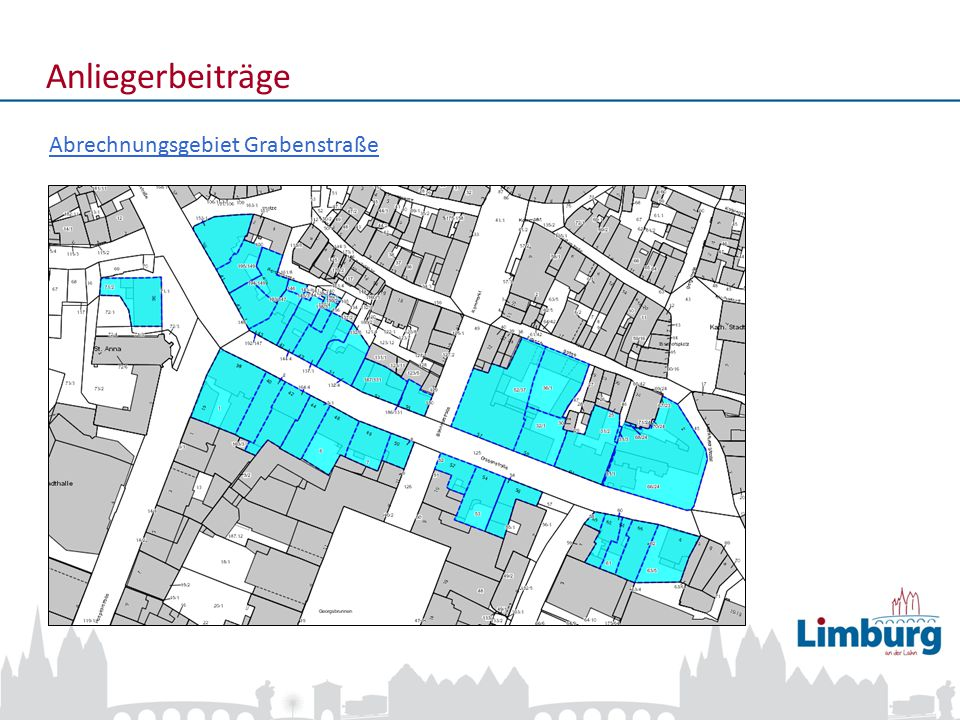 Anliegerbeiträge Abrechnungsgebiet Grabenstraße