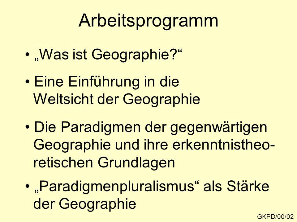 """Arbeitsprogramm """"Was ist Geographie Eine Einführung in die"""