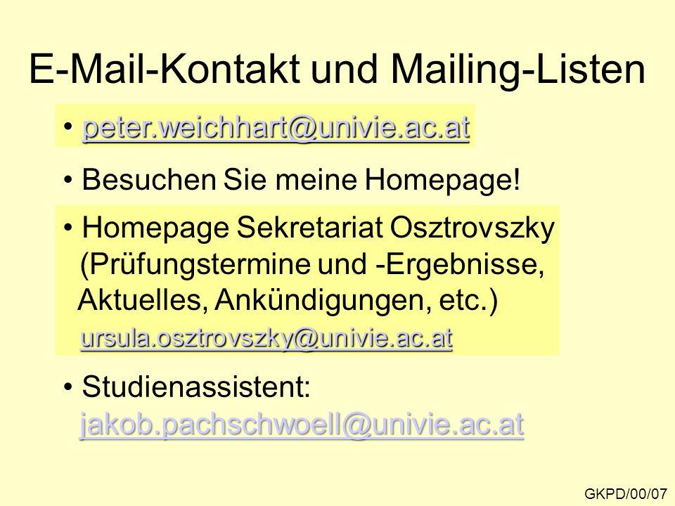 E-Mail-Kontakt und Mailing-Listen