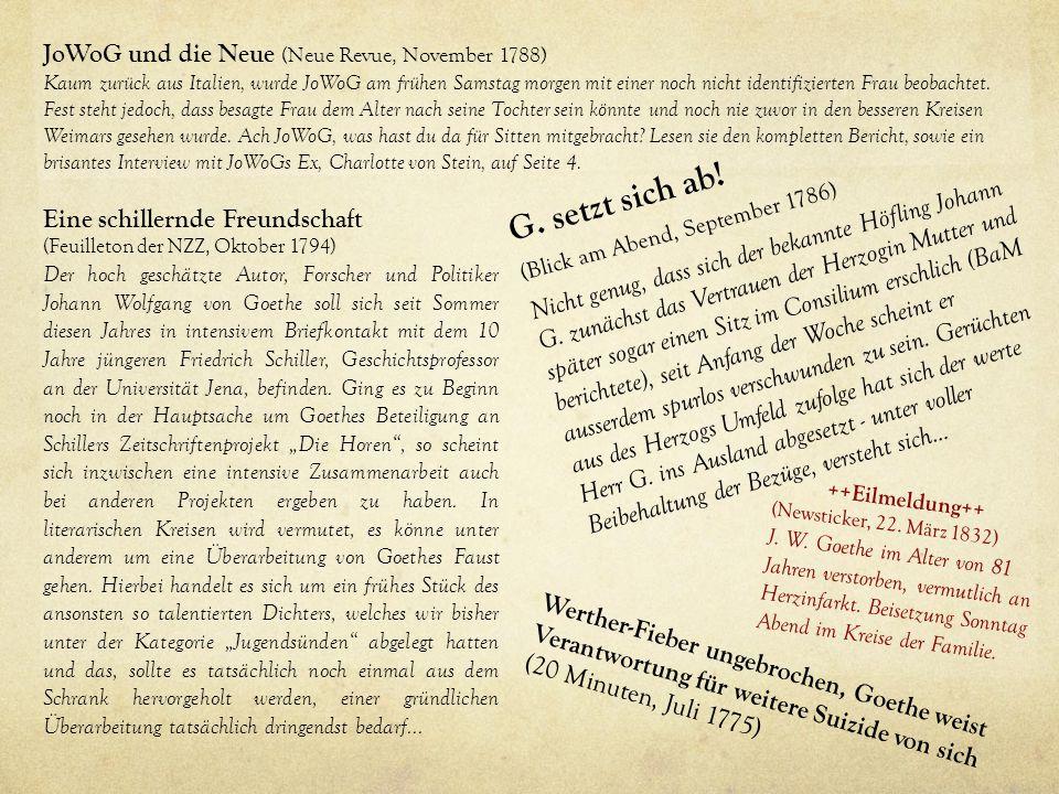 G. setzt sich ab! JoWoG und die Neue (Neue Revue, November 1788)