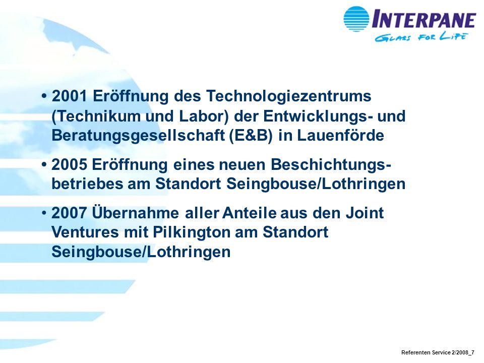 • 2001 Eröffnung des Technologiezentrums