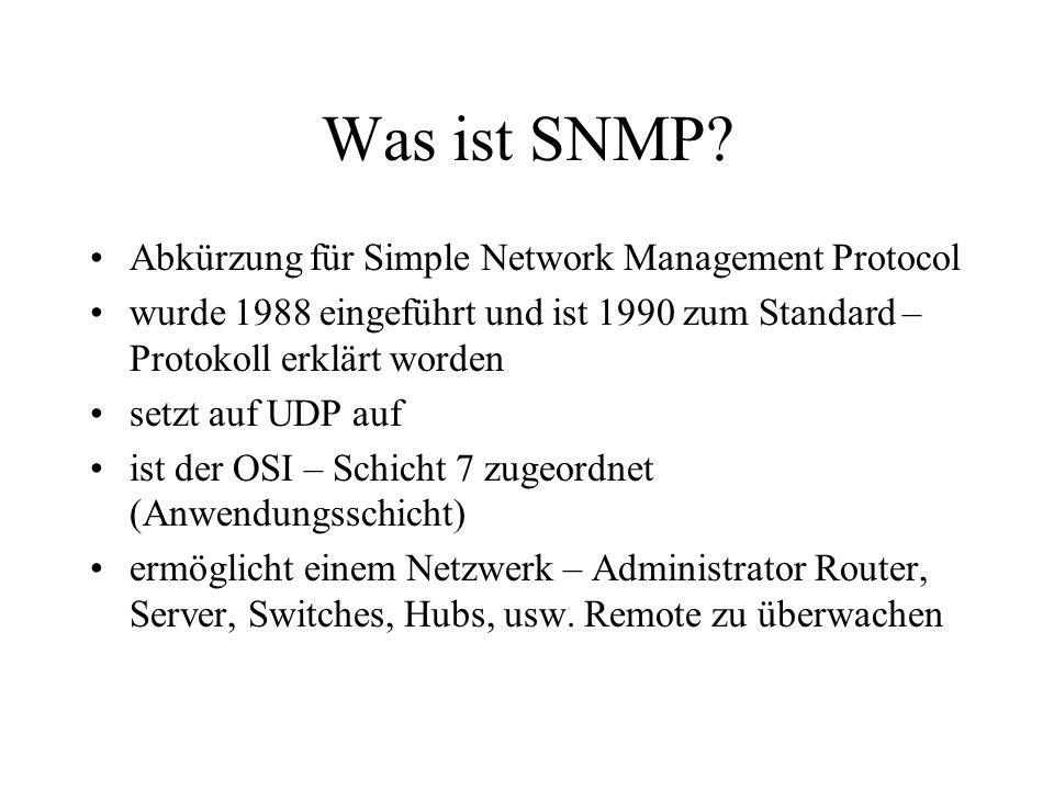 Was ist SNMP Abkürzung für Simple Network Management Protocol