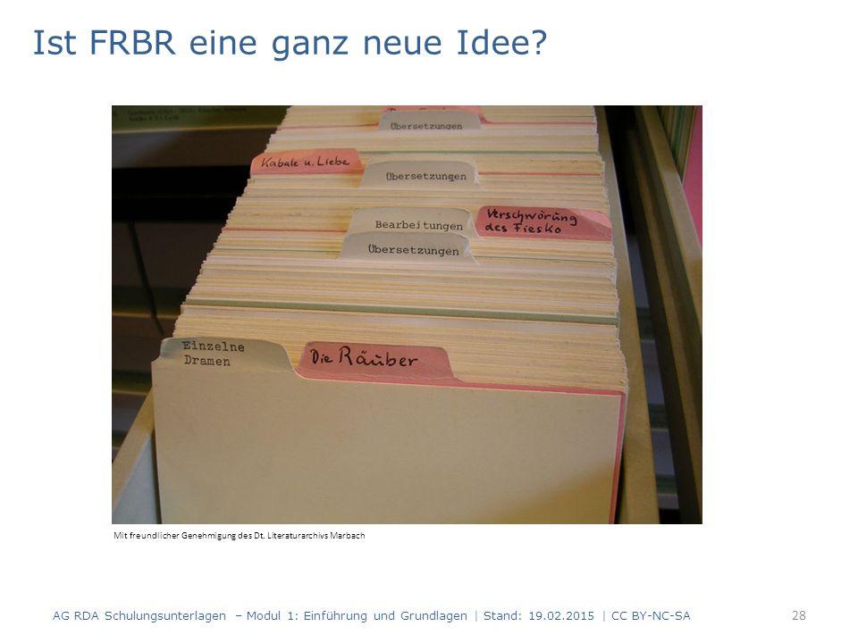Ist FRBR eine ganz neue Idee