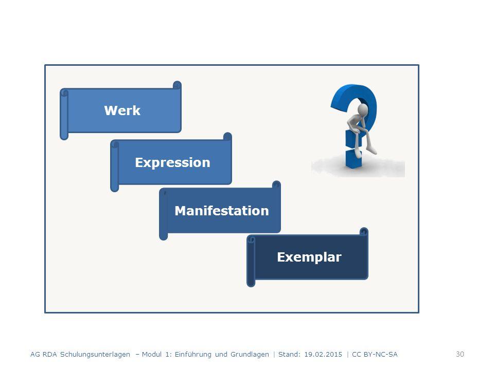 Werk Expression Manifestation Exemplar