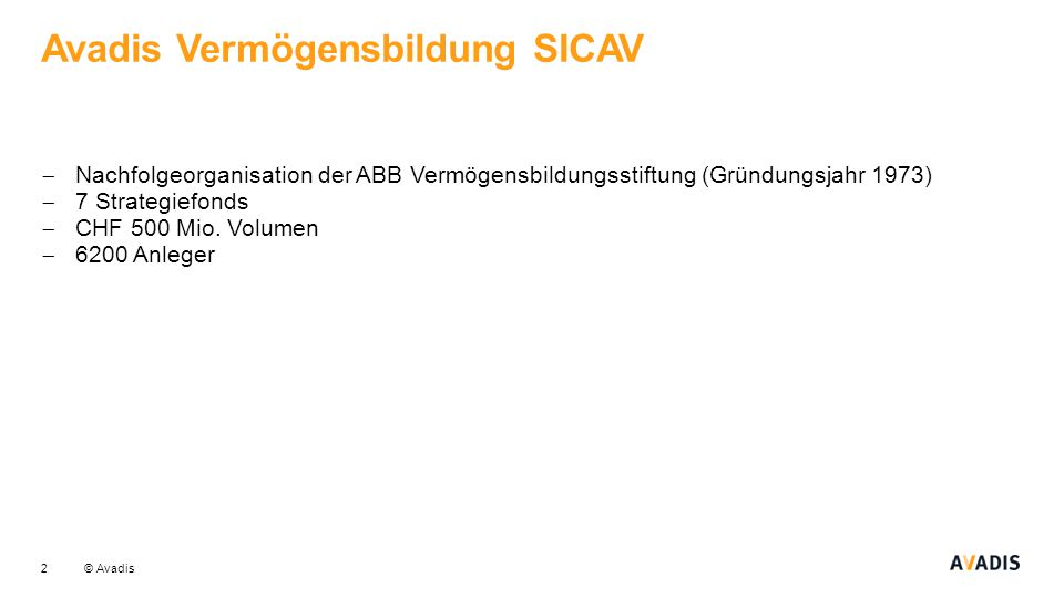 Avadis Vermögensbildung SICAV