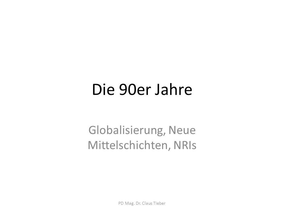 Globalisierung, Neue Mittelschichten, NRIs