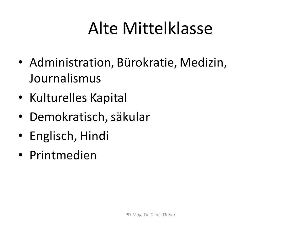 Alte Mittelklasse Administration, Bürokratie, Medizin, Journalismus