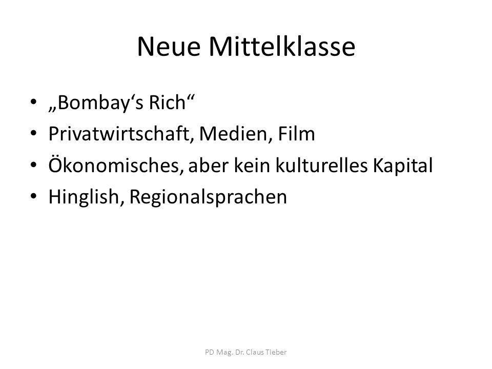 """Neue Mittelklasse """"Bombay's Rich Privatwirtschaft, Medien, Film"""