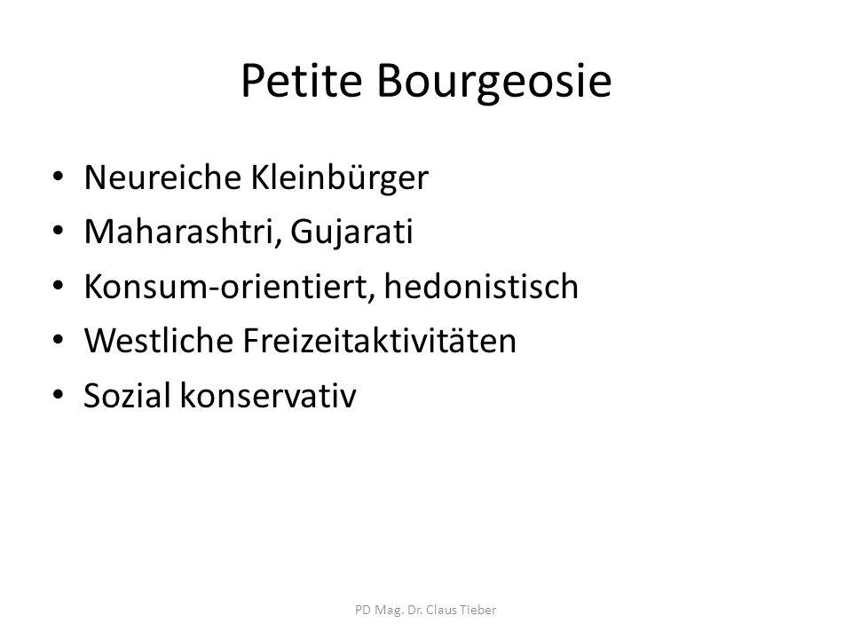 Petite Bourgeosie Neureiche Kleinbürger Maharashtri, Gujarati
