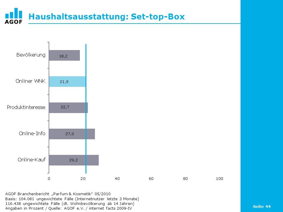 Haushaltsausstattung: Set-top-Box