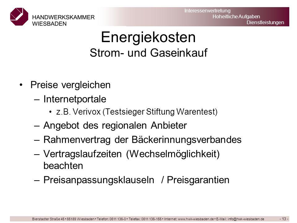 Energiekosten Strom- und Gaseinkauf