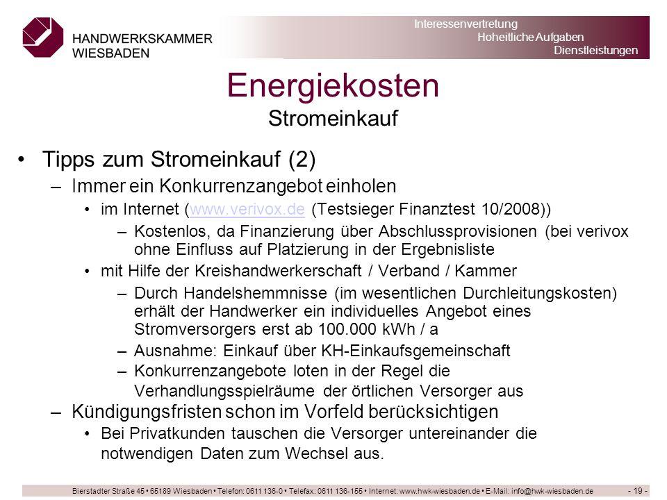 Energiekosten Stromeinkauf
