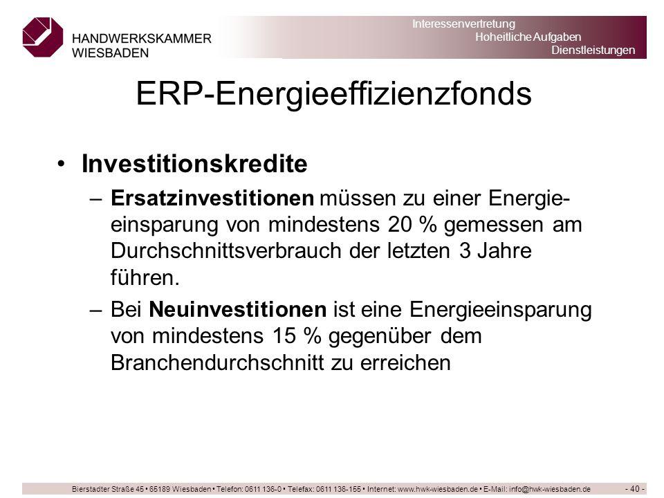 ERP-Energieeffizienzfonds