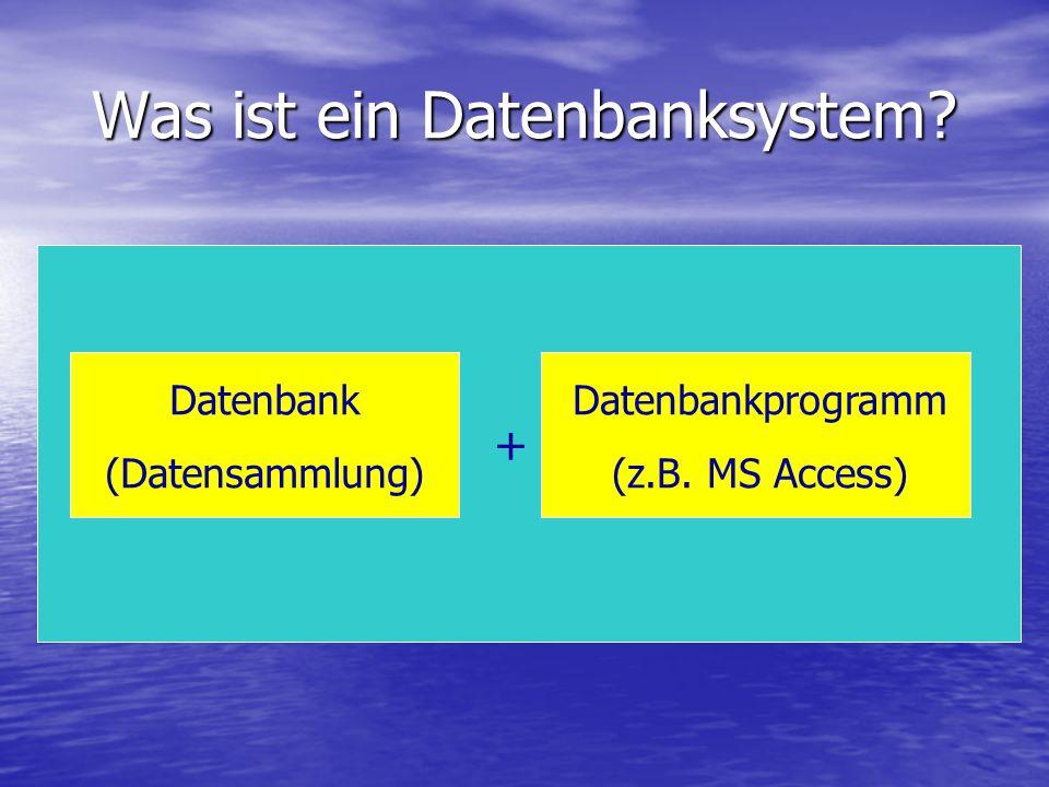 Was ist ein Datenbanksystem