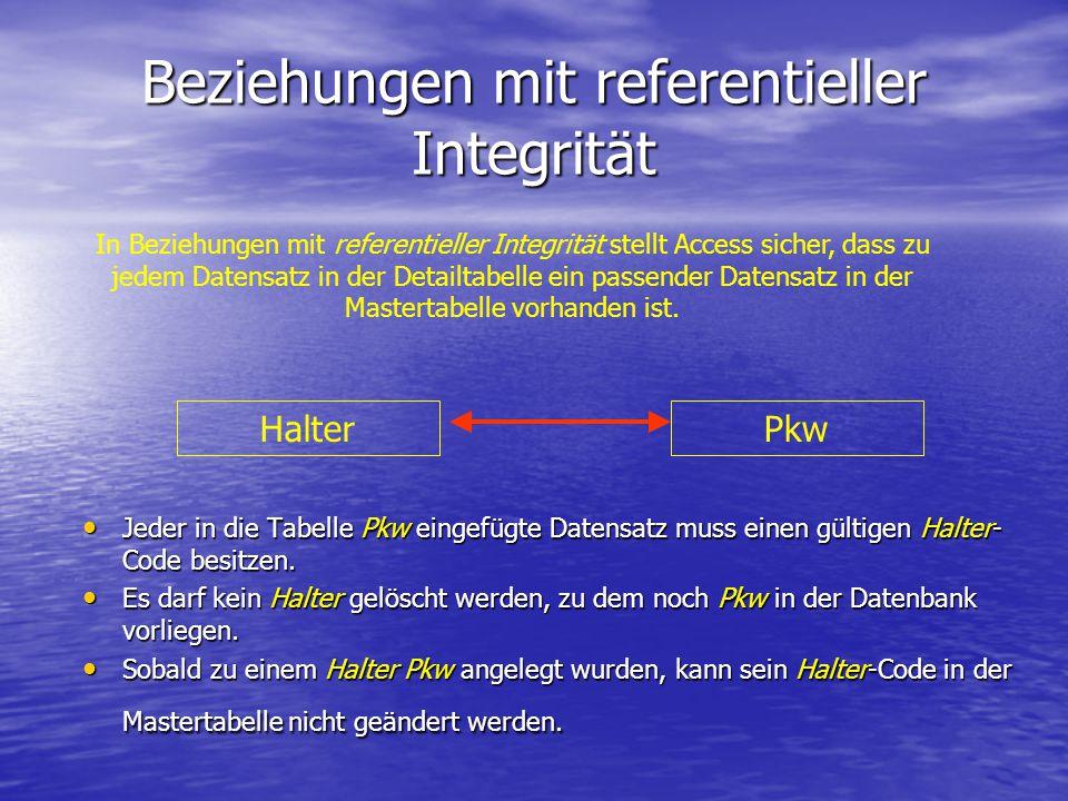 Beziehungen mit referentieller Integrität