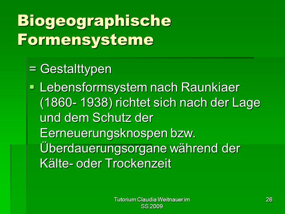 Biogeographische Formensysteme