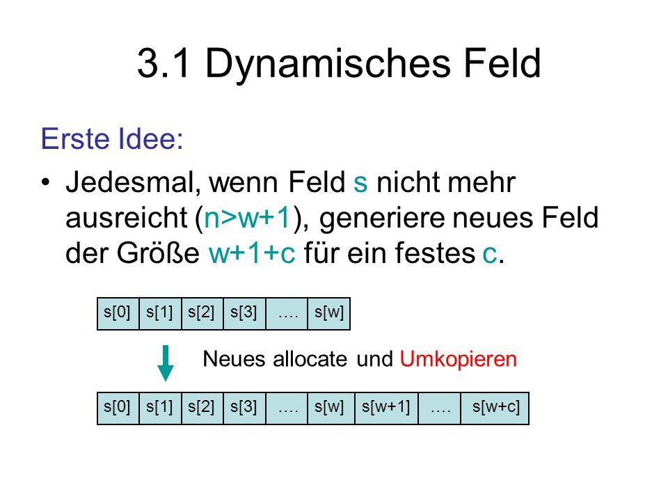 3.1 Dynamisches Feld Erste Idee:
