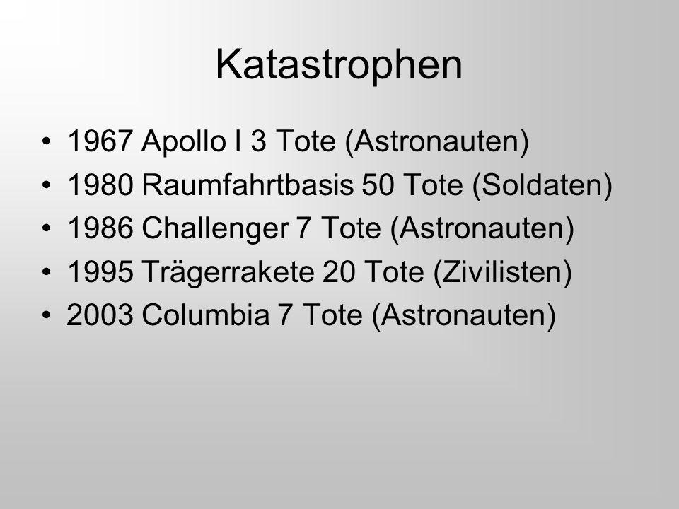 Katastrophen 1967 Apollo I 3 Tote (Astronauten)
