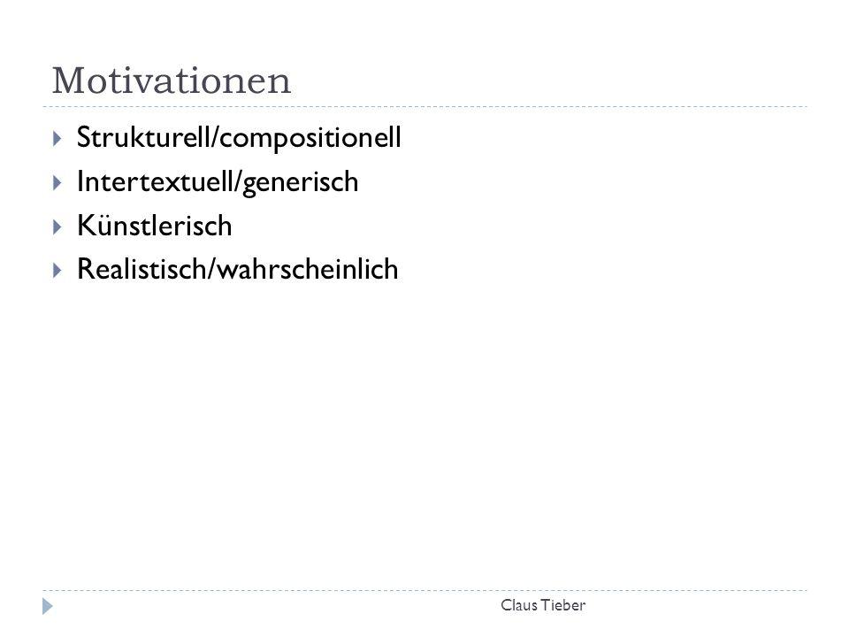 Motivationen Strukturell/compositionell Intertextuell/generisch