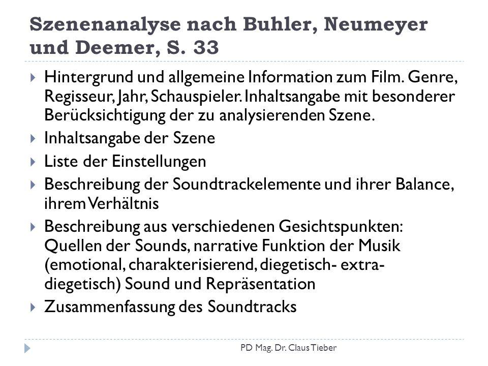 Szenenanalyse nach Buhler, Neumeyer und Deemer, S. 33