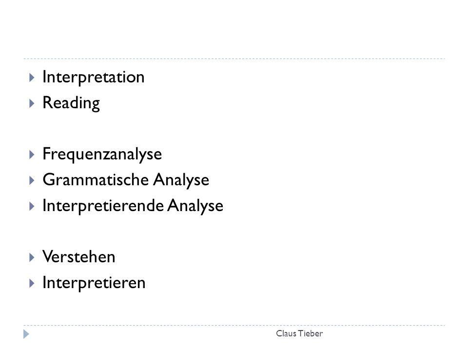 Interpretierende Analyse Verstehen Interpretieren