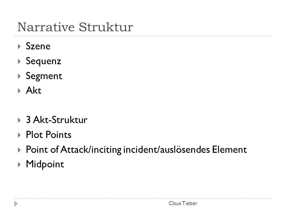 Narrative Struktur Szene Sequenz Segment Akt 3 Akt-Struktur