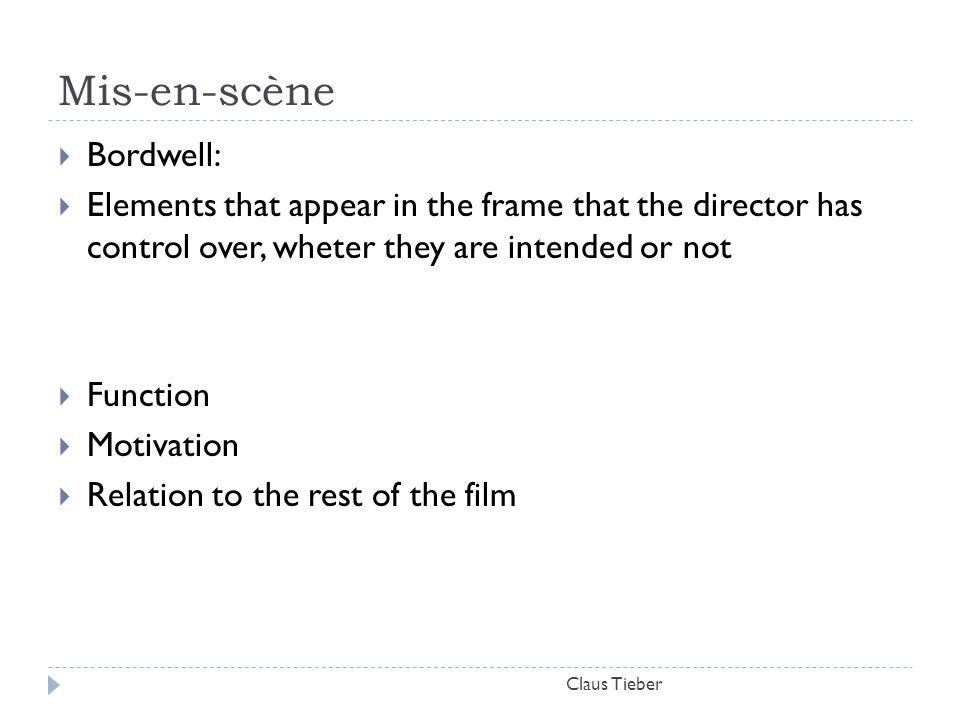 Mis-en-scène Bordwell: