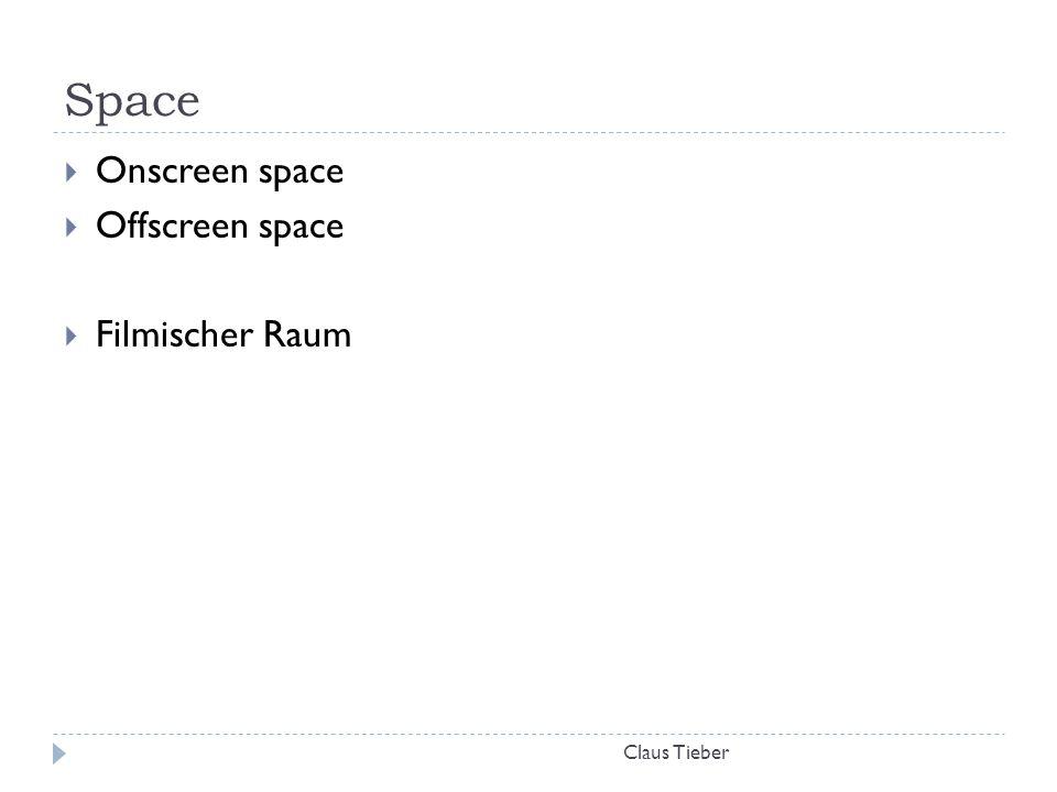 Space Onscreen space Offscreen space Filmischer Raum Claus Tieber